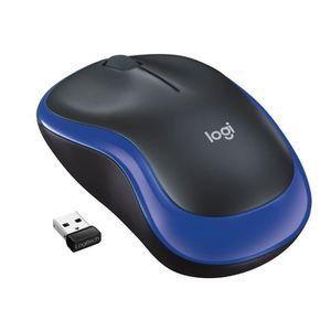 SOURIS Logitech souris sans fil optique - M185 Bleu
