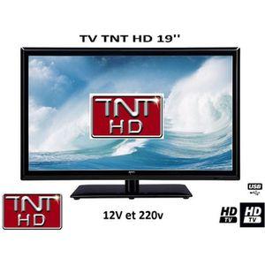 Téléviseur pour véhicule Télévision TV LED 19' HD LED 12V /220V camping car