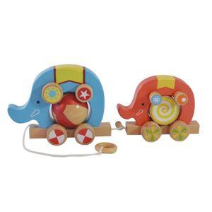 PUZZLE Remorque en bois d'enfants d'éléphant Puzzle anima