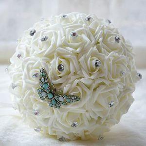 FLEUR ARTIFICIELLE beige 21cm bouquet de mariage pour mariee boule de