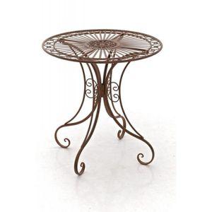 TABLE DE JARDIN  Table de jardin en fer forgé diamètre Ø 70 cm marr