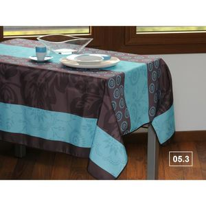 nappe anti tache bleu achat vente nappe anti tache bleu pas cher cdiscount. Black Bedroom Furniture Sets. Home Design Ideas
