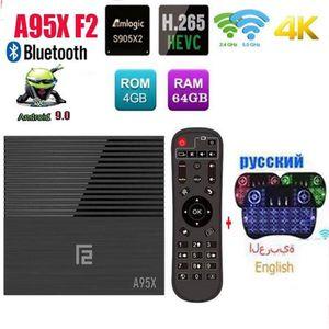 BOX MULTIMEDIA Avec clavier i8 A95X F2 4 Go 64 Go Smart TV Box An
