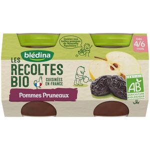 DESSERT FRUITS BÉBÉ BLEDINA Petits pots pommes pruneaux Les récoltes B