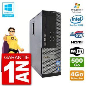 UNITÉ CENTRALE  PC Dell 3010 SFF Intel G640 RAM 4Go Disque Dur 500