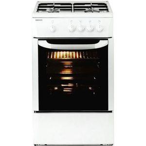 CUISINIÈRE - PIANO Cuisinière à gaz avec four 9500W 60 cm blanc - Cui