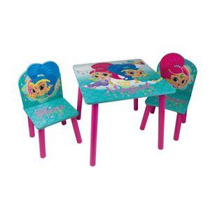 TABLE ET CHAISE SHIMMER & SHINE Table et 2 chaises enfant en bois