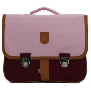 CARTABLE CARTABLE 41 CM ROSE ET BORDEAUX-MINISERI