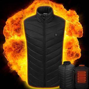Gilet chauffant /à double face /à temp/érature ajustable pour la randonn/ée Camping Gilet chaud /électrique