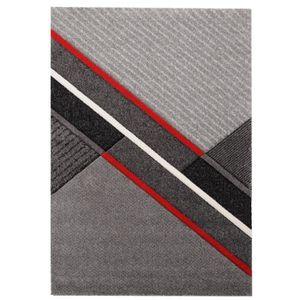 TAPIS ELLA Tapis de salon 120x170cm - Rouge