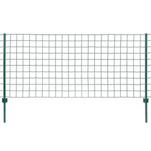 CLÔTURE - GRILLAGE Ensemble de clôture Euro 20 x 1,2 m Acier Vert
