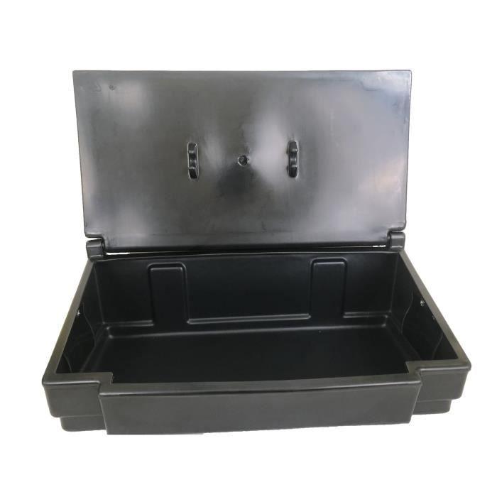 Coffre de jardin PEHD - 50 L - Noir