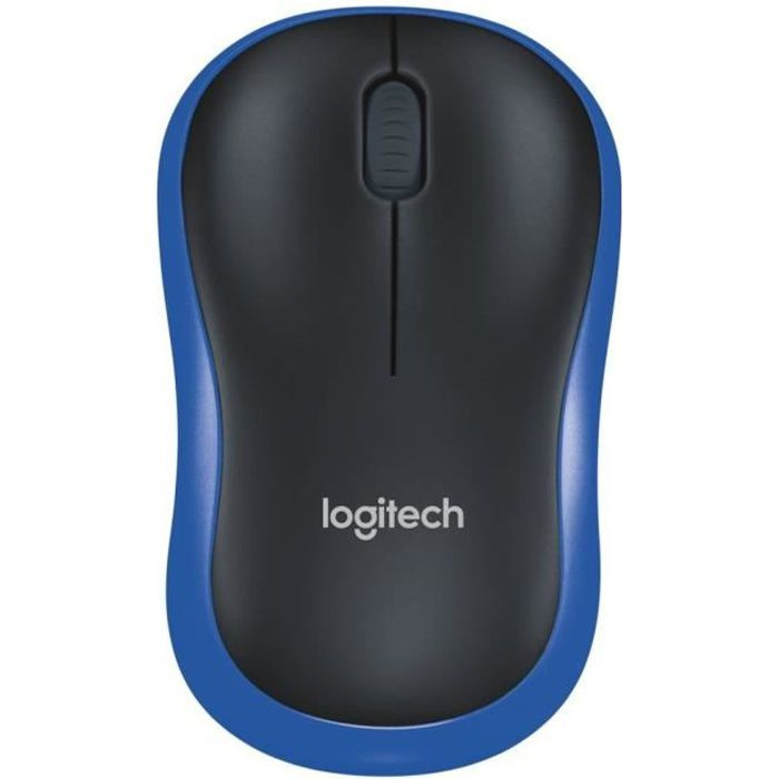 logitech souris sans fil optique m185 bleu prix pas cher cdiscount. Black Bedroom Furniture Sets. Home Design Ideas