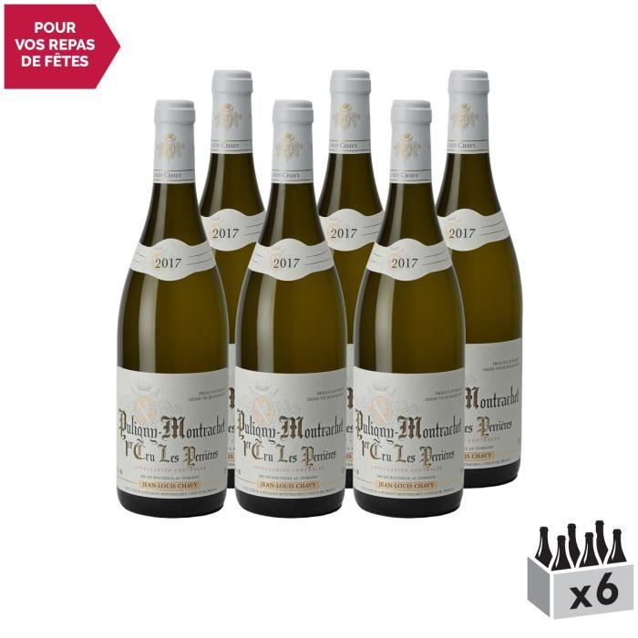 Puligny-Montrachet 1er Cru Les Perrières Blanc 2017 - Lot de 6x75cl - Domaine Jean-Louis Chavy - Vin AOC Blanc de Bourgogne -