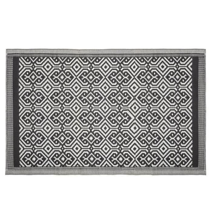 Tapis extérieur 120x180 cm Mandala noir 120 X 180 Noir