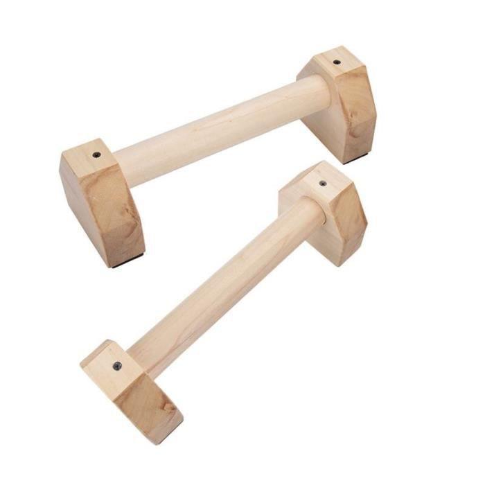 barre pour traction -1 paire En Bois Sport Push Up Stands Pushup Bars D'exercice De Gymnas...- Modèle: Jaune clair - ZOAMFWZDA09251