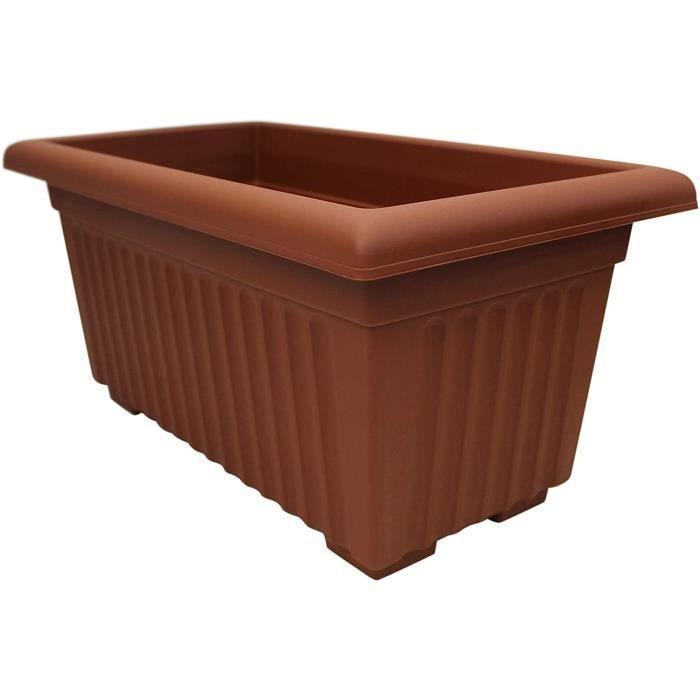 Thumbsup Homewares Extra Large 53cm Long Jardinière Jardin Plante Pot Plastique Trough Surélevé Plante Couleur Terre Cuite