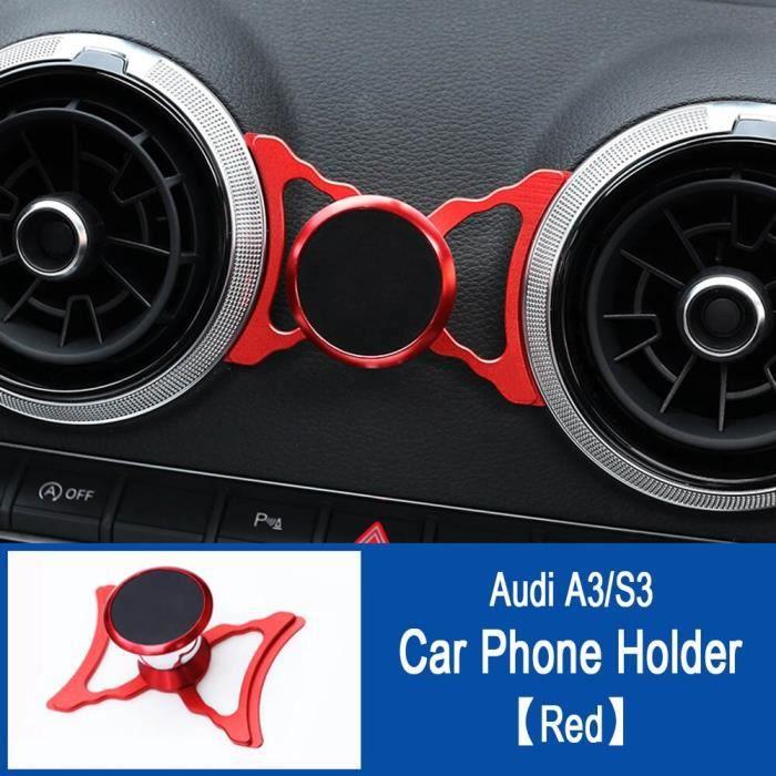 Supports voiture,Support pour téléphone de voiture pour Audi A3 S3 RS3 8V Q2 SQ2 Support d'évent Support de style - Type A3 S3 Red