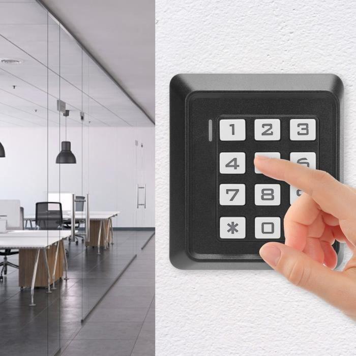 Clavier de Porte Entrée Sans Clé Carte de Mot de Passe RFID 13,56MHz Système de Contrôle d'Accès Wiegand26-TIP