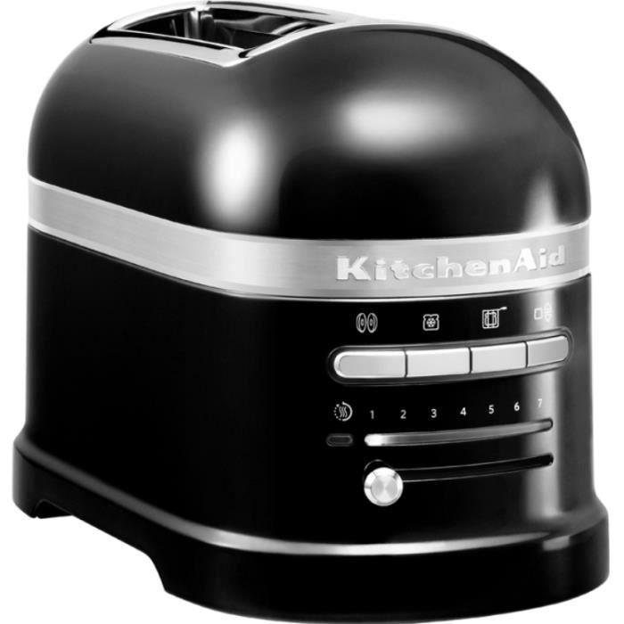 Kitchenaid - grille-pains 2 tranches 1250w truffe noire - 5kmt2204ebk