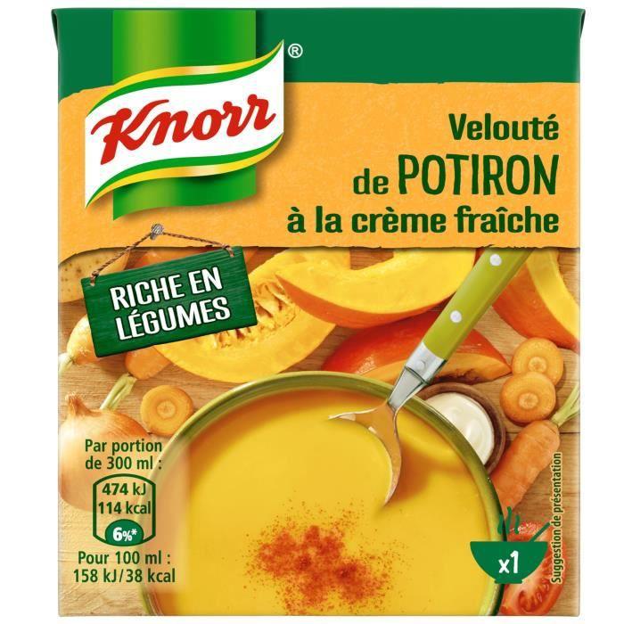 KNORR Les Classiques Soupe Liquide Velouté Potiron Crème Fraîche - 30 cl