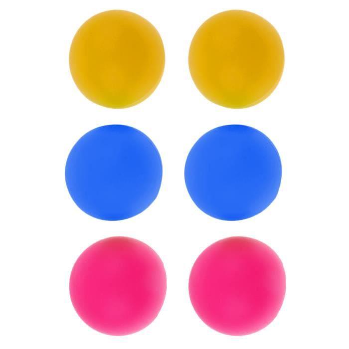 Lot de 6pcs Balles De Tennis De Table / Ping Pong / Beer Pong - Coloré B coloré