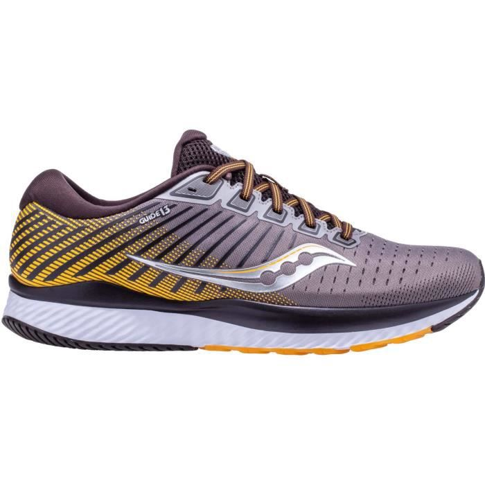 Saucony Guide 13 Hommes Chaussures running gris