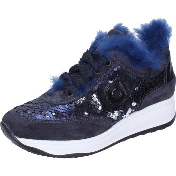 AGILE by RUCOLINE Chaussures Femme Baskets Bleu BJ782