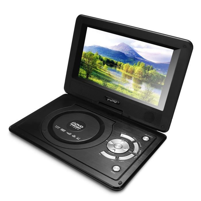 Kit 8.8'' DVD Lecteur Portable 270° Pivotant USB SD MS MMC TV AV MP4 DVD SVC VCD CD CD-R RW MP3 NEU6414970352153