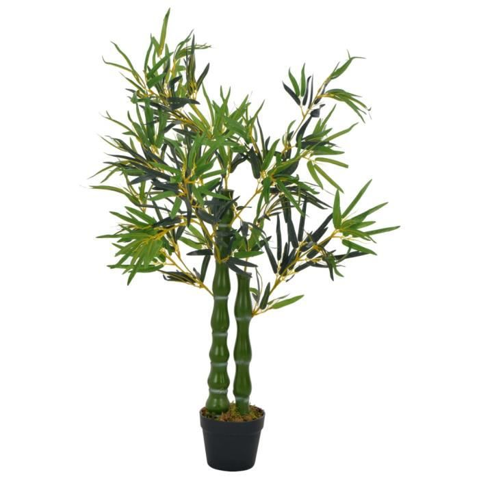 Plante artificielle arbre à la maison jardin avec pot Bambou Vert 110 cm