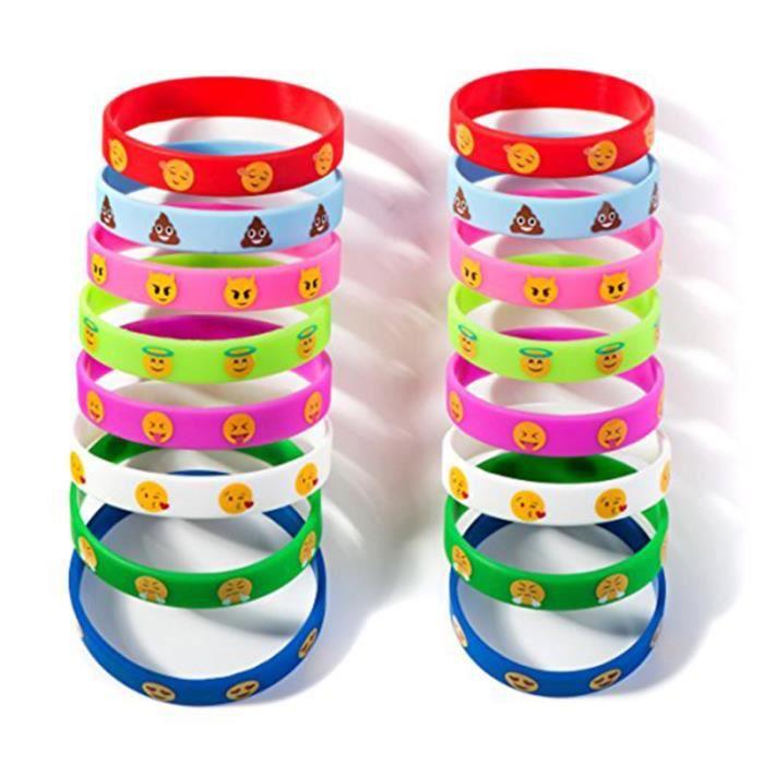 32 PCS Emotion Bracelets En Silicone Nouveauté Émoticône Parti Fournitures Cadeau pour Enfants