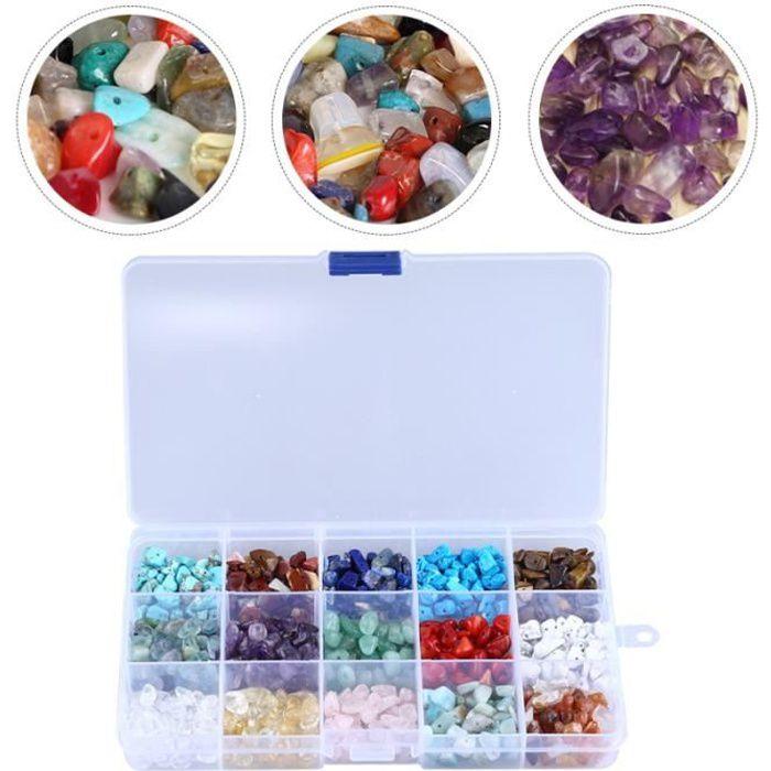 1 boîte de perles en pierre naturelle bricolage perle en vrac pour faire un bracelet bracelet - gourmette - jonc bijoux