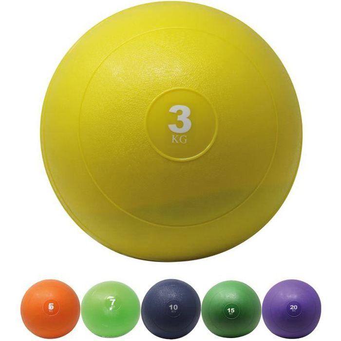 Slamball I Medicine Ball 3 - 20 kg I Slam Ball différentes couleurs Poids: 3 kg