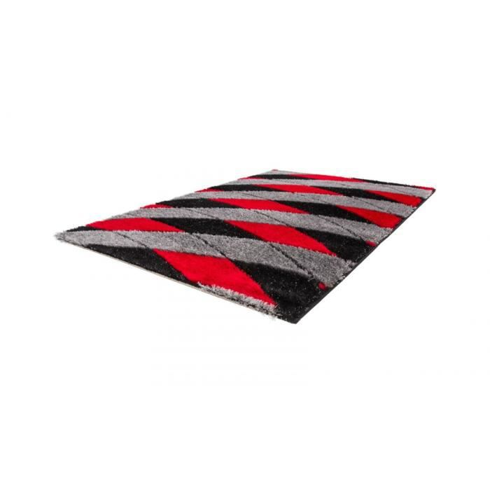 allotapis tapis moderne brilant shaggy pour salon rouge. Black Bedroom Furniture Sets. Home Design Ideas