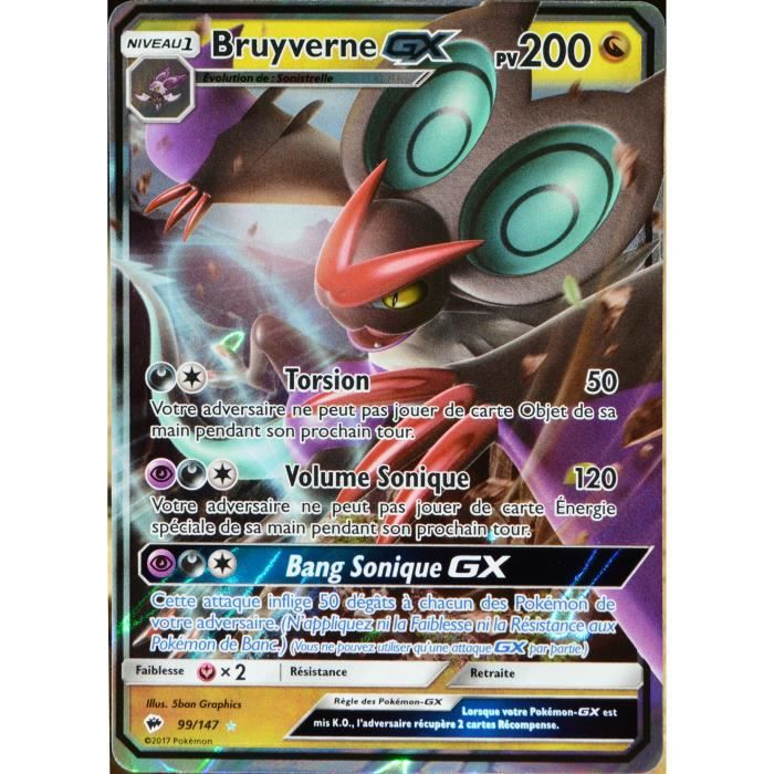 Carte Pokemon 99 147 Bruyverne Gx 200 Pv Sl3 Soleil Et Lune Ombres Ardentes Neuf Fr Achat Vente Carte A Collectionner Cdiscount