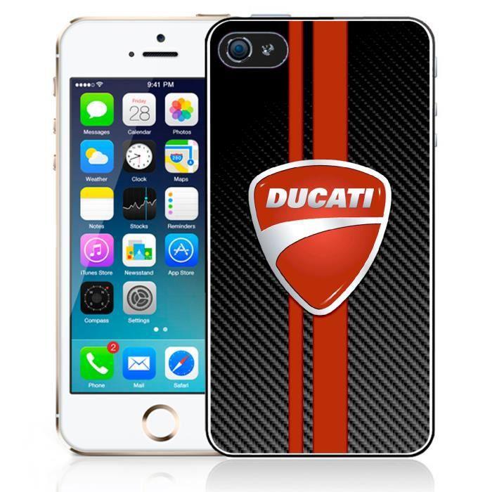 Coque pour iPhone 4-4S ducati carbon