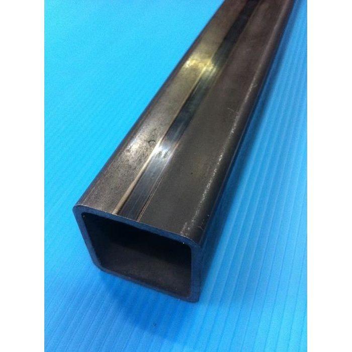 50 cm profilrohr 3x3cm Acier Inoxydable k240 tête carrée Tube v2a