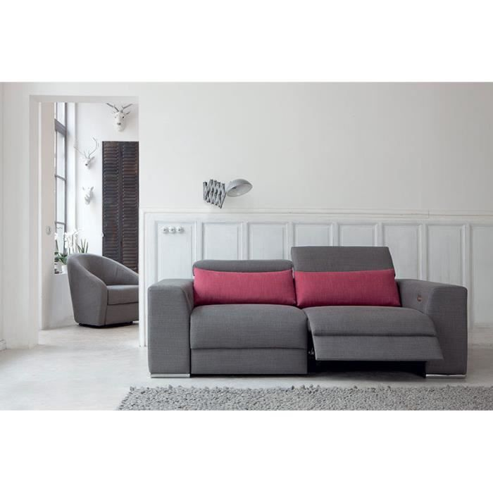 Canap de relaxation lectrique 2 places cento for Canape 2 couleurs