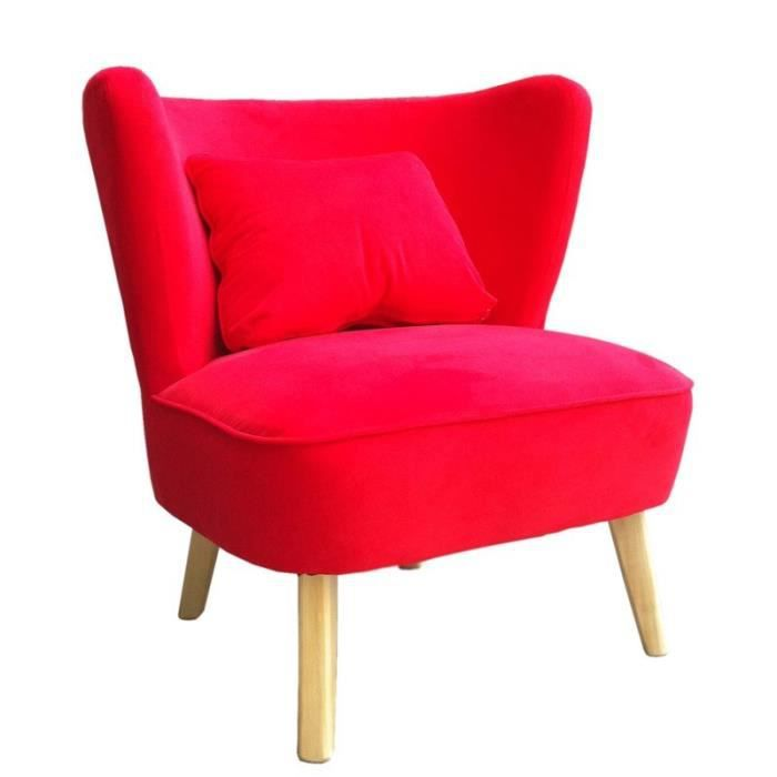 fauteuil rouge vintage achat vente fauteuil cdiscount. Black Bedroom Furniture Sets. Home Design Ideas