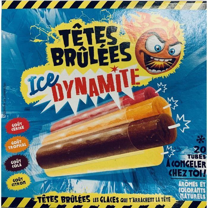 CONFISERIE DE SUCRE Sucettes a Congeler X 20 Têtes Brûlées ICE Dynamit