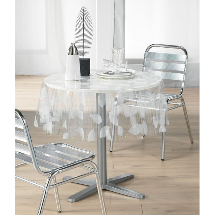 nappe plastique transparente pour table ronde. Black Bedroom Furniture Sets. Home Design Ideas