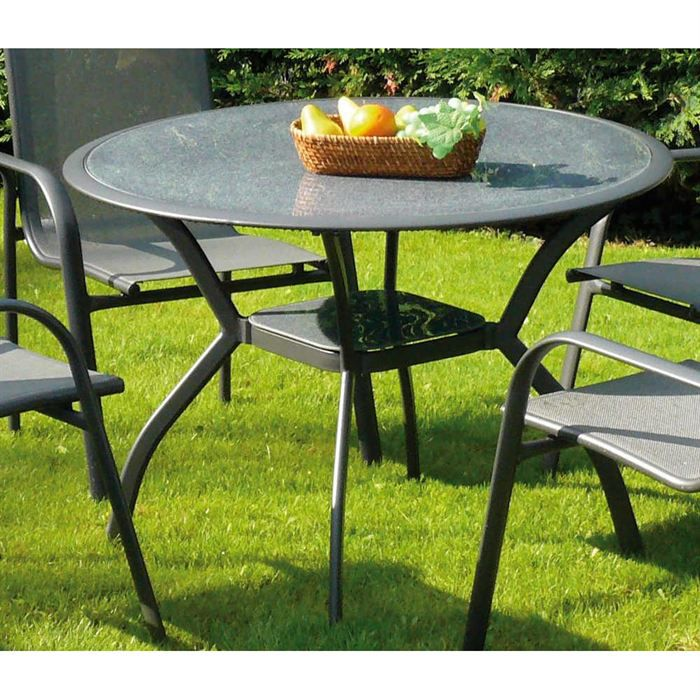 Table en aluminium marina dream garden achat vente - Table de jardin verre ...