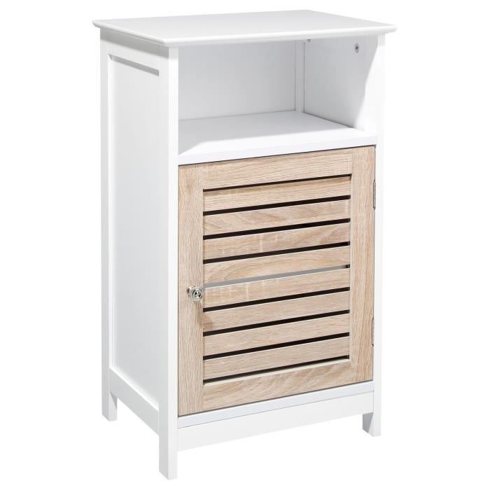meuble de rangement bas bois blanc achat vente. Black Bedroom Furniture Sets. Home Design Ideas