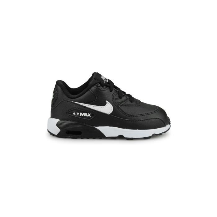 Baskets Nike Air Max 90 Leather Bebe Noir Noir Noir - Achat   Vente ... c0e00e32ff70e