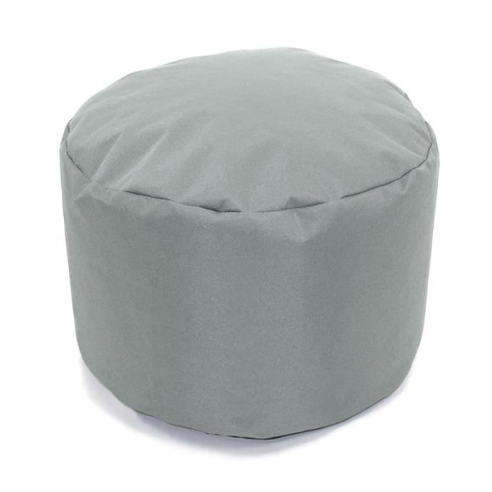 pouf rond gris nuage int rieur ext rieur 30x25cm diam tre 30 cm x h 25 cm gris achat vente. Black Bedroom Furniture Sets. Home Design Ideas