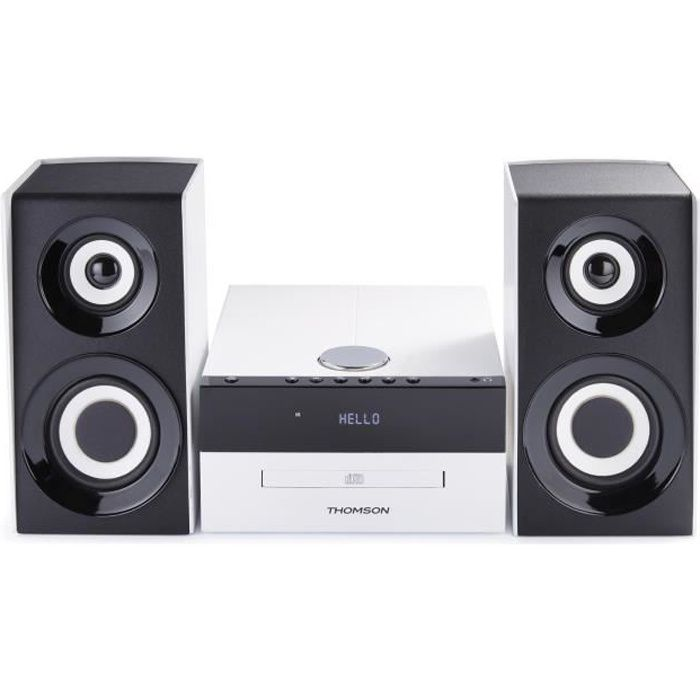 micro chaine blutooth cd mp3 usb radio num rique blanche. Black Bedroom Furniture Sets. Home Design Ideas