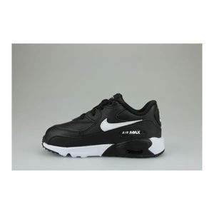 finest selection 85109 1422e ... BASKET Baskets Nike Air Max 90 Leather Bebe Noir ...