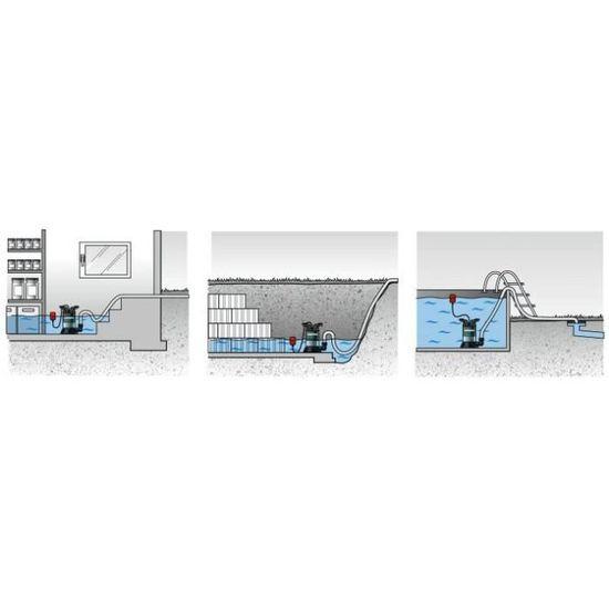 Güde Pression Pompe immergée pour GDT 1200 L 1200 W