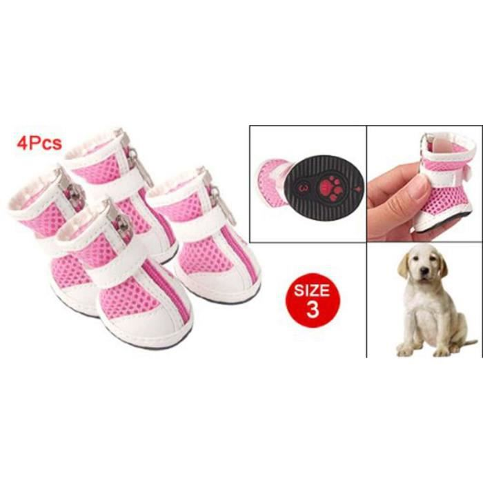 Bottes de chien sportives Roses avec rayures blanches Chaussures # 3