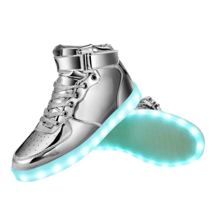 Fun cool Light Up Led espadrille 7 couleurs Usb Charging INDQA Taille-38